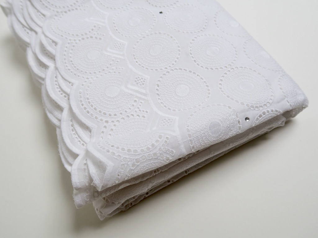 Eyelet Embroidery - Fabric from Benin