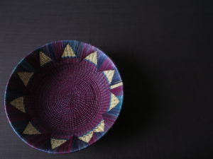 Round Woven Basket - Crafts from Niger
