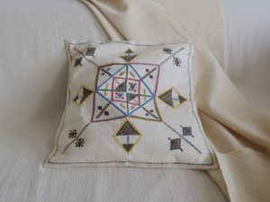 Fulani embroidery - Rare cushion cover from Niger