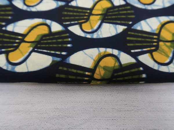 Close up - Yellow fabric from Niger