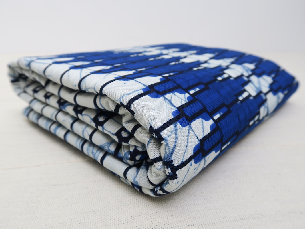 Blue and white wax fabric from Niger